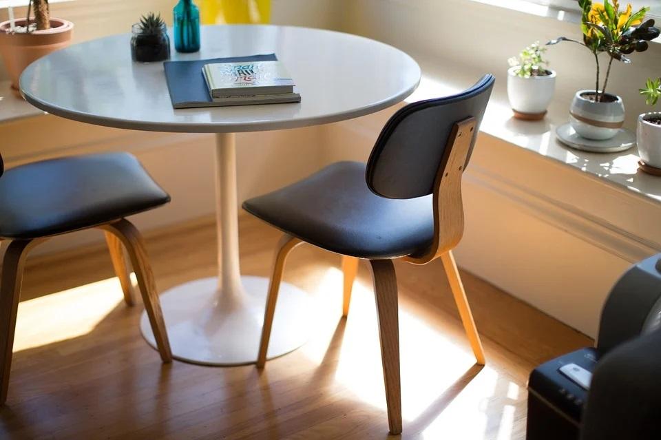 Foto de uma sala com mesa, cadeiras e plantas. Imagem ilustrativa para o texto melhores franquias do Brasil.